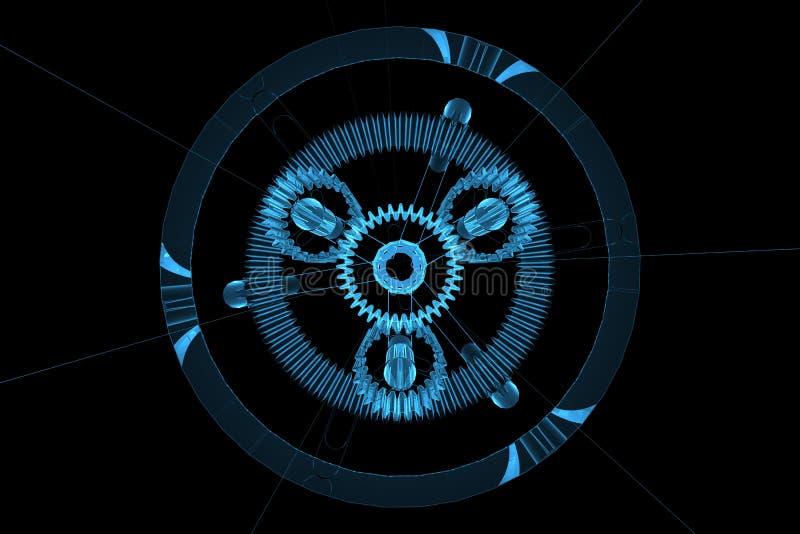 рентгеновский снимок голубой шестерни 3d планетарный прозрачный бесплатная иллюстрация