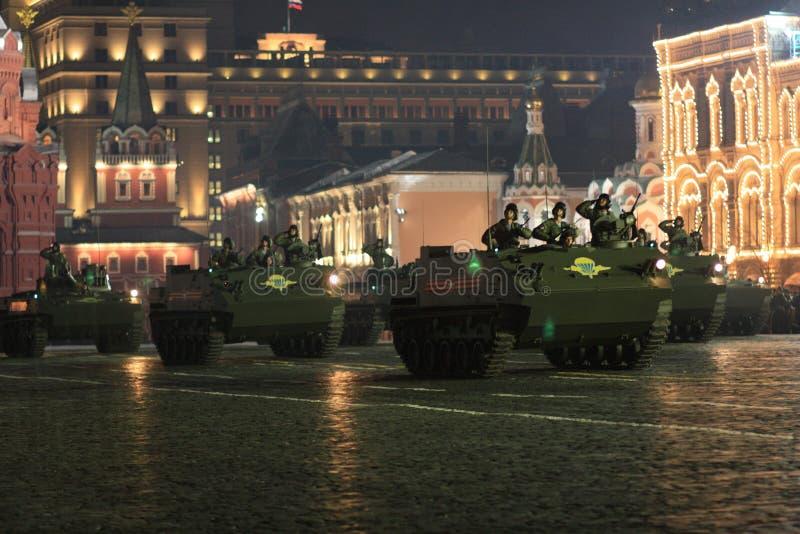 Репетиция парада победы стоковое изображение rf