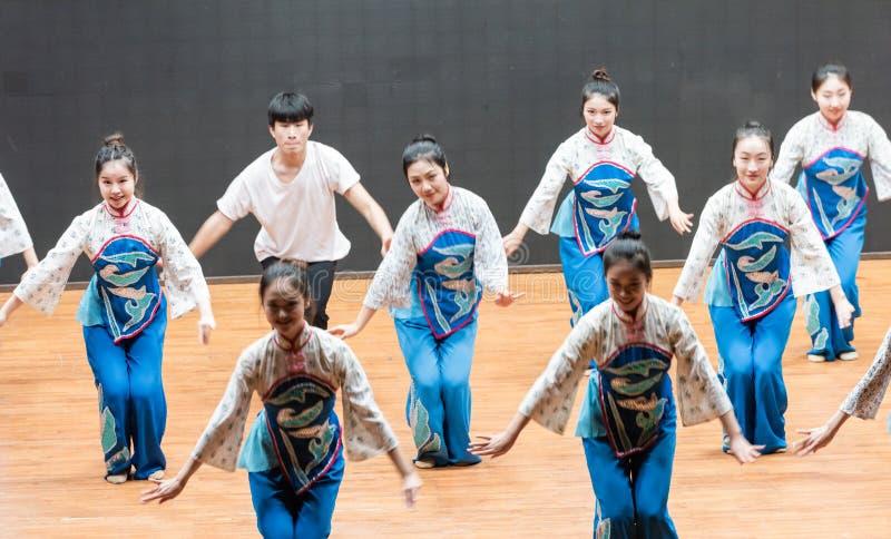 репетиция танца 1-Teaching рудоразборки чая на уровне отдела танца стоковые изображения rf