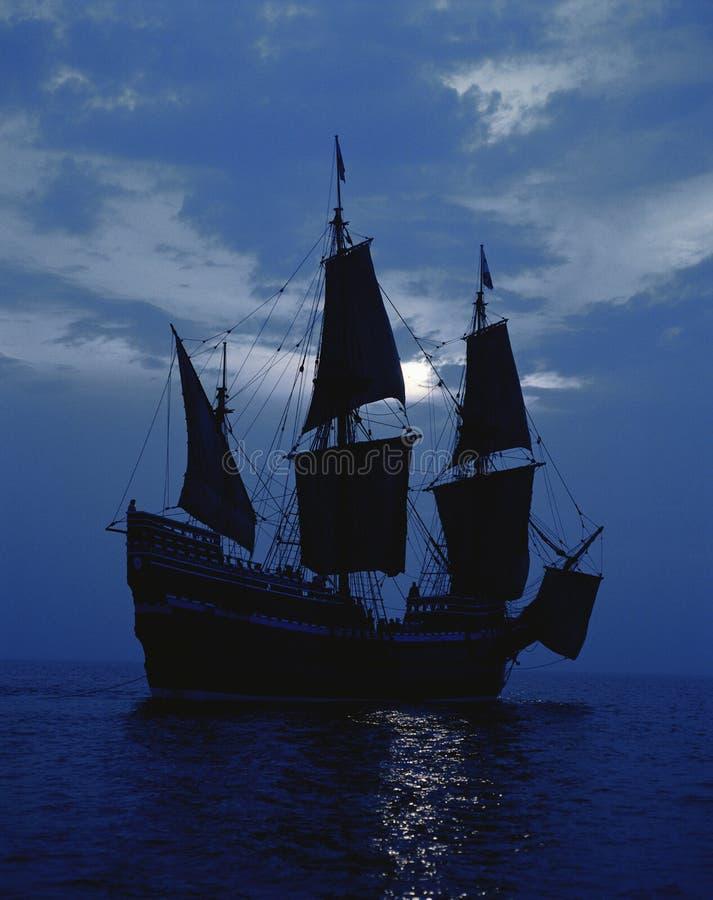 Реплика корабля Mayflower II стоковое изображение
