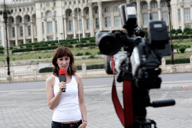 репортер стоковая фотография