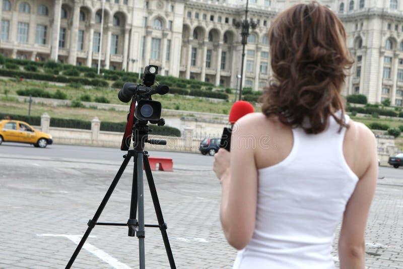 репортер стоковое изображение rf