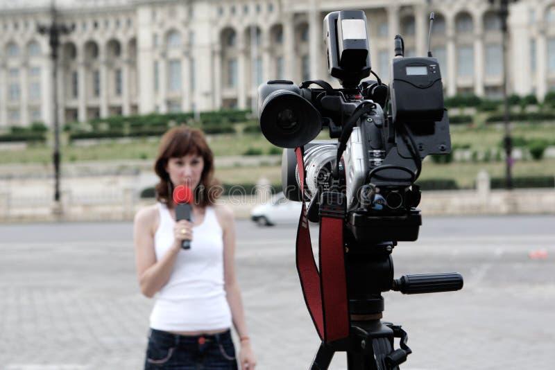 репортер стоковое изображение