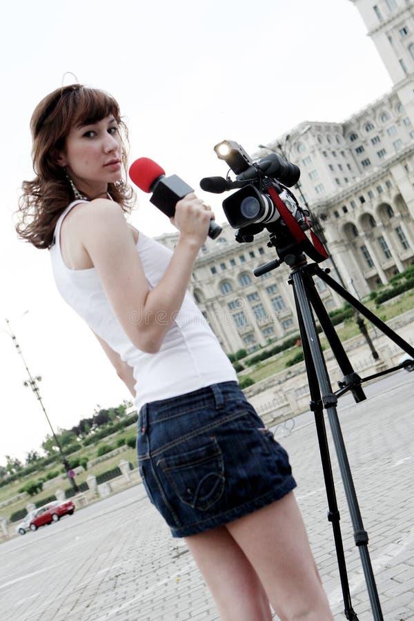репортер стоковое фото