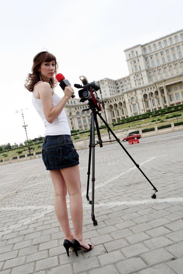 репортер стоковые изображения rf
