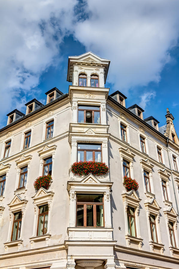 Репрезентивное здание в Freiberg стоковое изображение