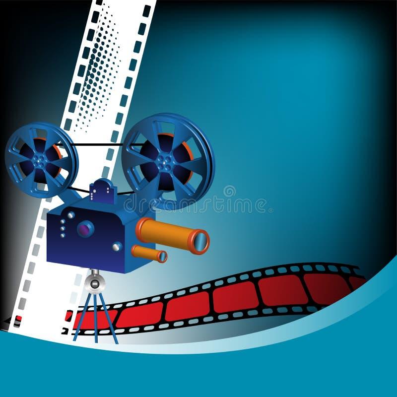репроектор кино иллюстрация вектора