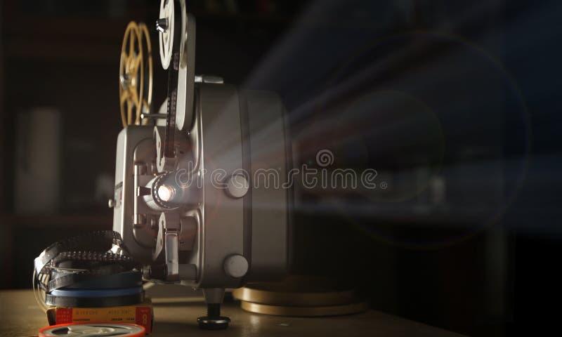репроектор пленки 8mm стоковое фото