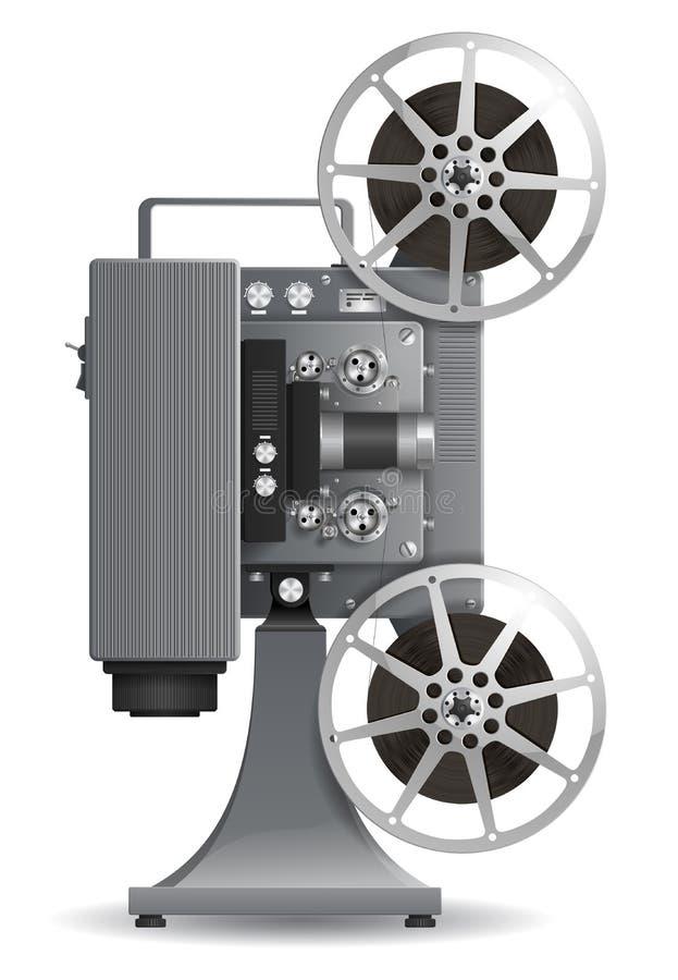 Репроектор фильма иллюстрация вектора