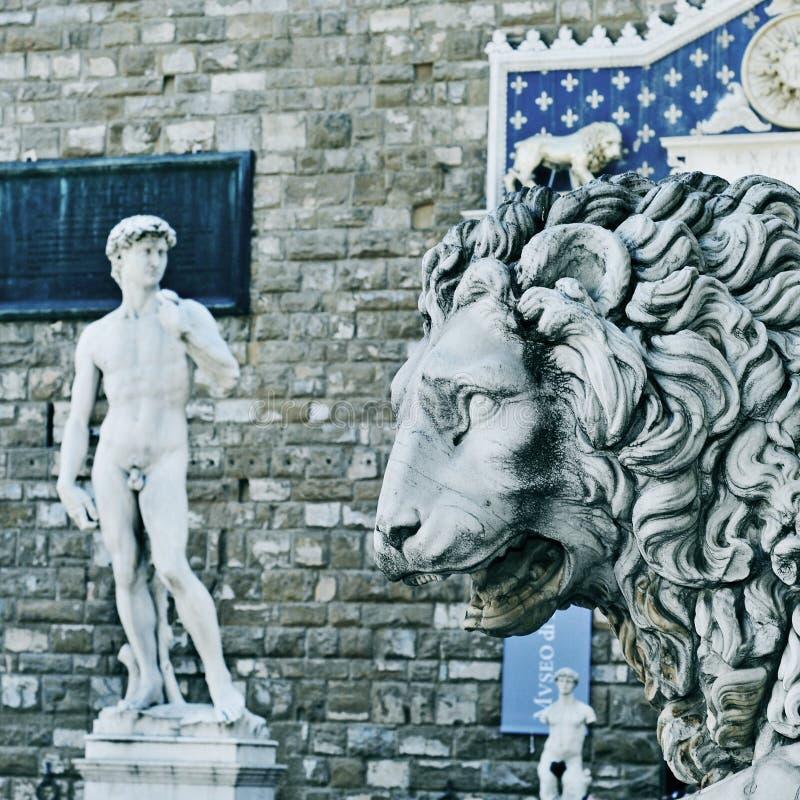 Реплика Дэвида Микеланджело в Флоренсе, Италии стоковые изображения