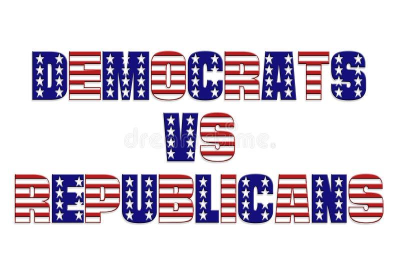 республиканцы демократов против бесплатная иллюстрация