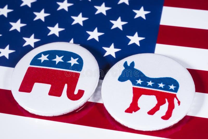 Республиканцы и Демократ стоковое изображение rf