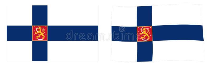 Республика национального флага/ensign Финляндии Простой и немножко wav иллюстрация штока