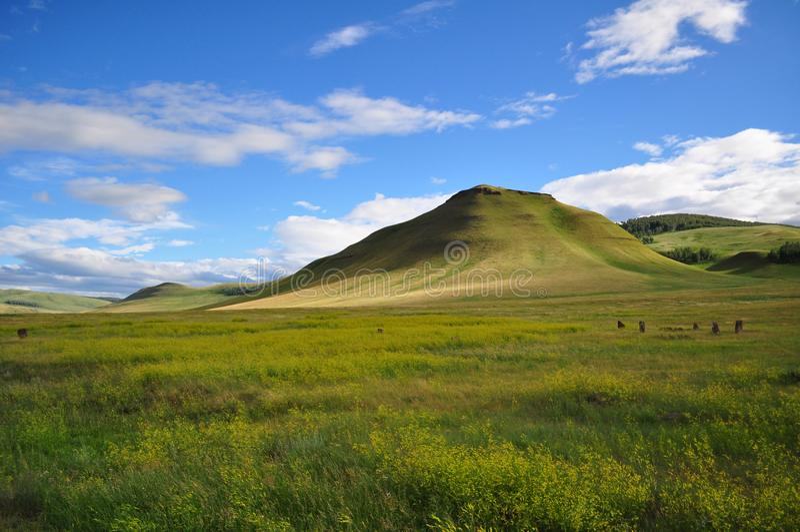 Республика Сибирь Khakassia холмов стоковое фото