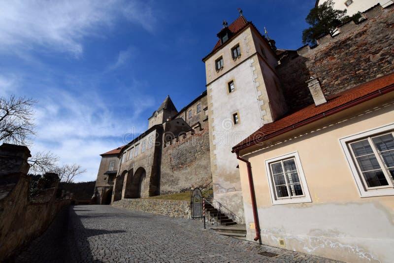 республика krivoklat замока чехословакская стоковая фотография