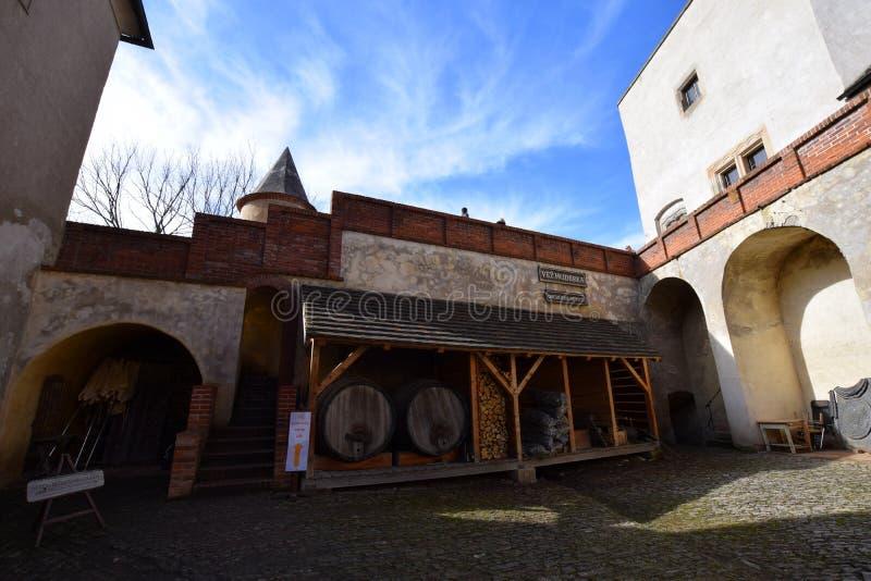 республика krivoklat замока чехословакская стоковое изображение