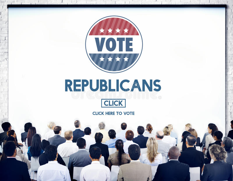 Республиканский президент Концепция группы избрания Демократ стоковые фото