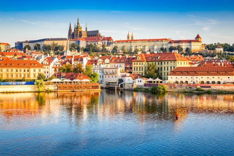 республика prague замока чехословакская стоковое фото