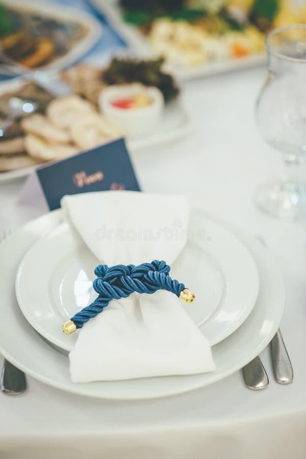 Ресторанное обслуживаниа события свадьбы стиля перемещения стоковая фотография