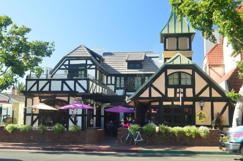 Рестораны Solvang: Живописная деревня основанная датчанами со своим типичным Contructions исторической Дании стоковые фото
