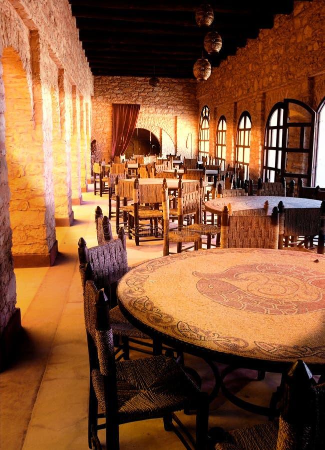 ресторан араба после полудня последний стоковая фотография