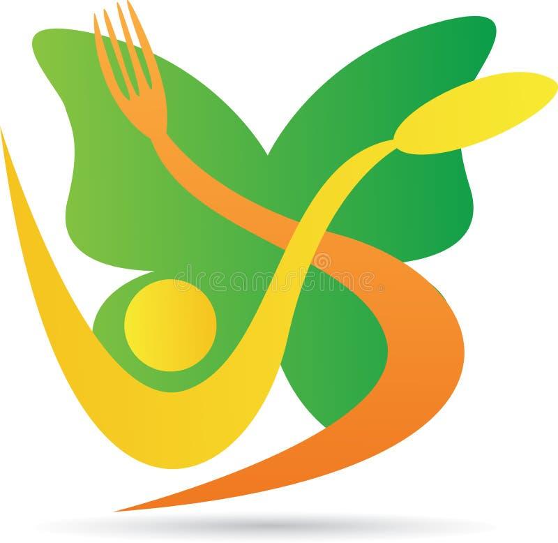 Ресторан бабочки иллюстрация вектора