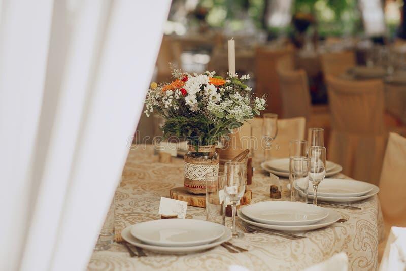 Ресторан банкета свадьбы стоковые фото