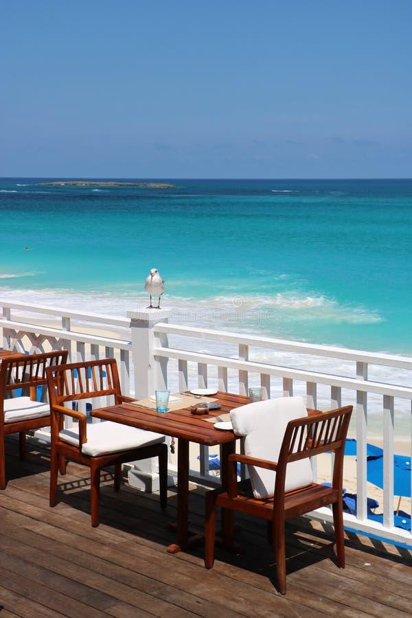 Ресторан вида на океан стоковое фото