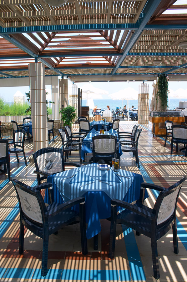 ресторан воздуха открытый стоковая фотография rf