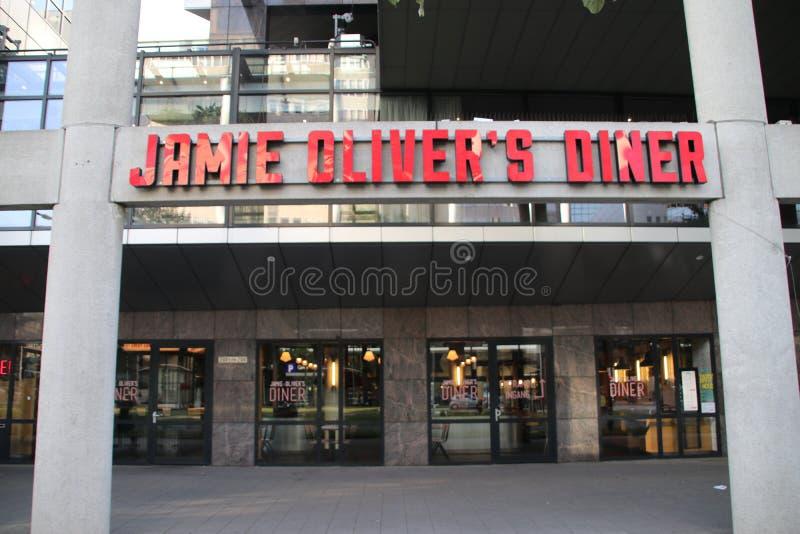 Ресторан главного кашевара Джемми Оливера на Weena в Роттердаме Нидерланды стоковое изображение rf