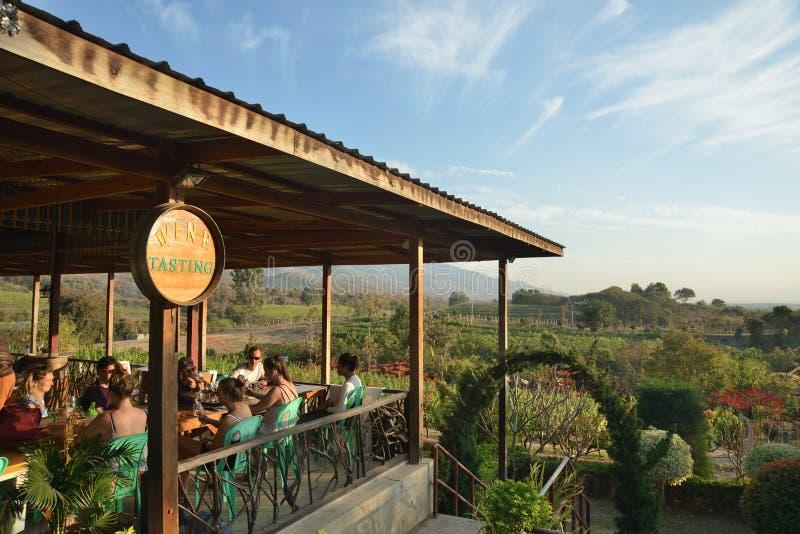 Ресторан деревни озера Мьянм Inle стоковая фотография