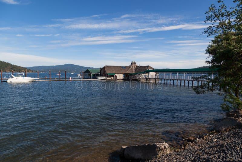 Ресторан кедров на ` Alene Coeur d озера стоковая фотография