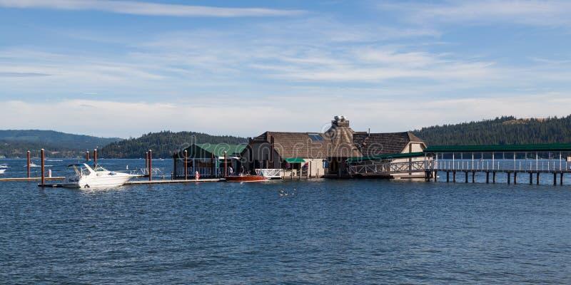 Ресторан кедров на ` Alene Coeur d озера стоковое изображение
