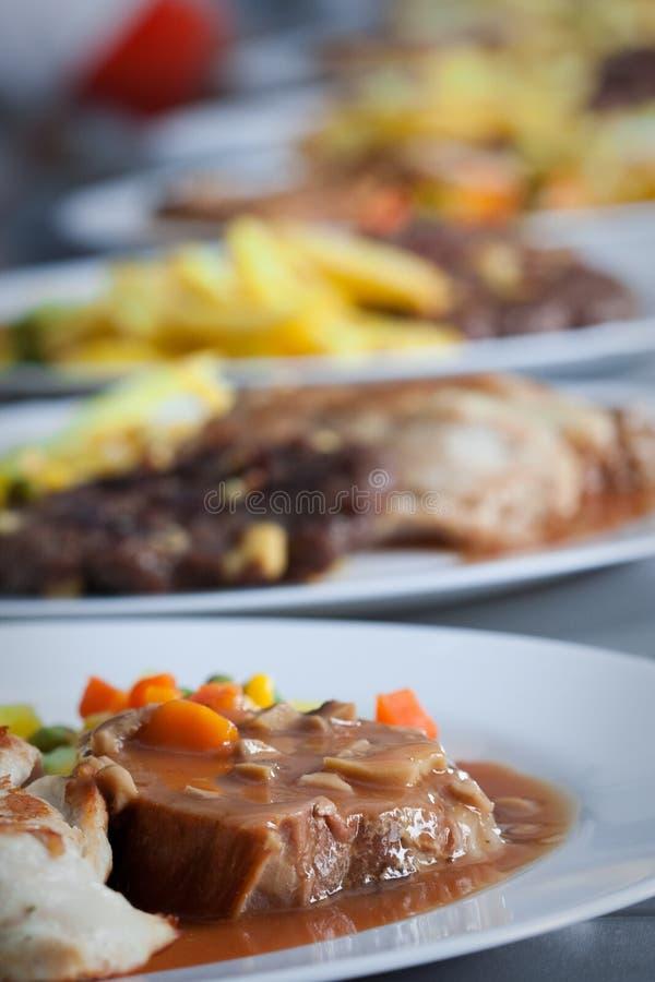 ресторан кухни еды доставки с обслуживанием стоковое фото rf