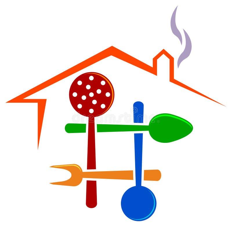 ресторан логоса иллюстрация вектора