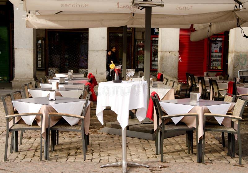 Ресторан, Мадрид, Испания стоковое изображение rf