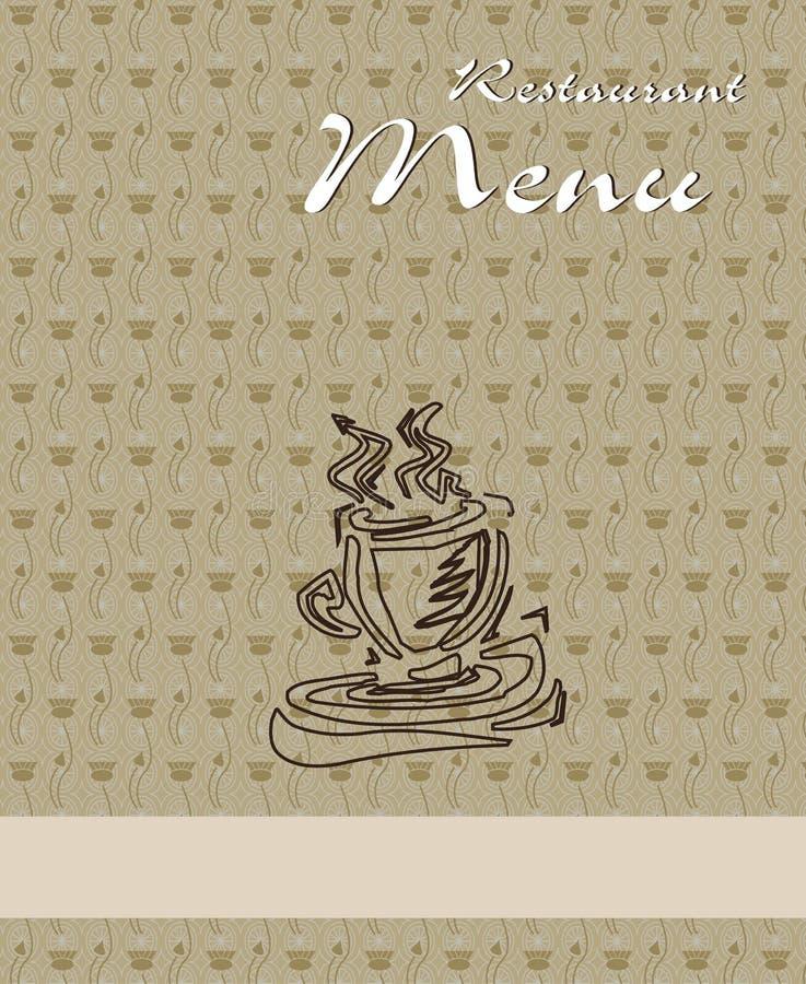 ресторан меню конструкции кофе иллюстрация вектора