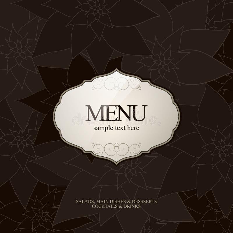 ресторан меню конструкции иллюстрация штока