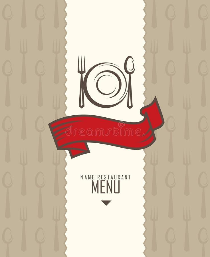 ресторан меню конструкции иллюстрация вектора