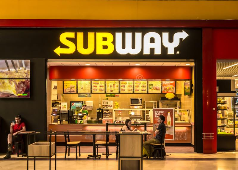 Ресторан метро стоковая фотография