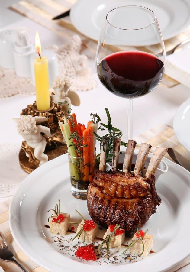 ресторан обеда стоковое изображение rf