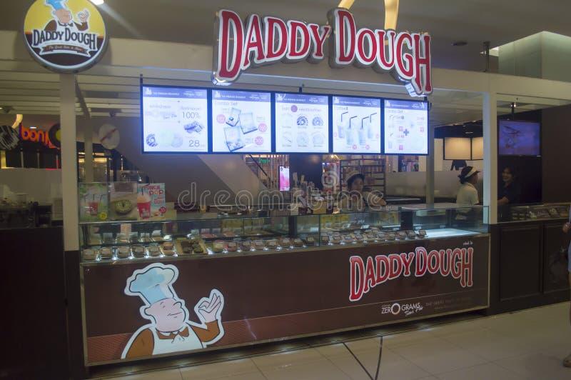 Ресторан донута Dought папы в Таиланде стоковые изображения