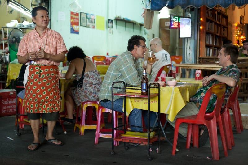 ресторан предпринимателя стоковое изображение rf