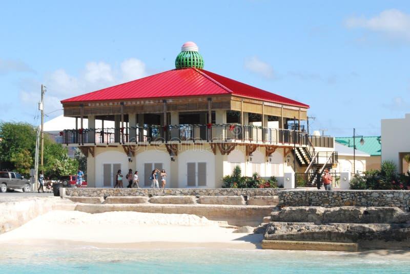Ресторан пляжа передний стоковая фотография
