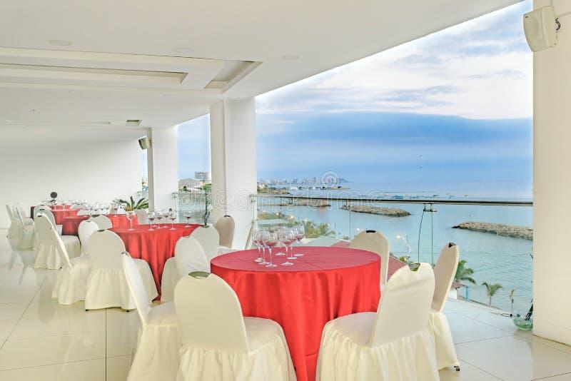 Ресторан роскошной гостиницы портового района, Ла Libertad, эквадор стоковая фотография