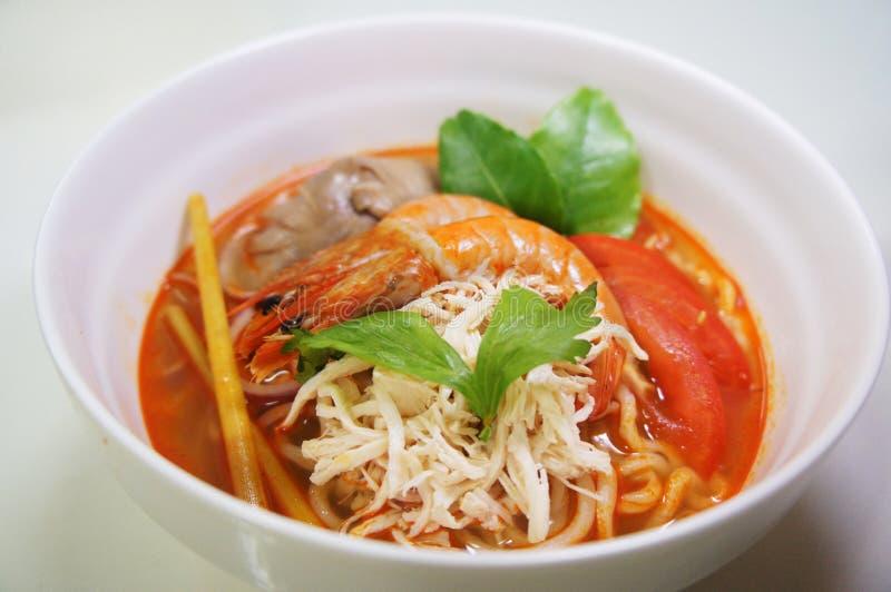 Ресторан тайского стиля Food Tom Yam SoupFresh Cook Seafood Prawn Noodles стоковые изображения rf
