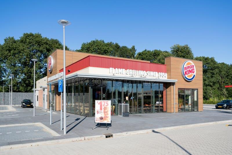 Ресторан фаст-фуда Burger King в Spijkenisse, Нидерланд стоковая фотография rf