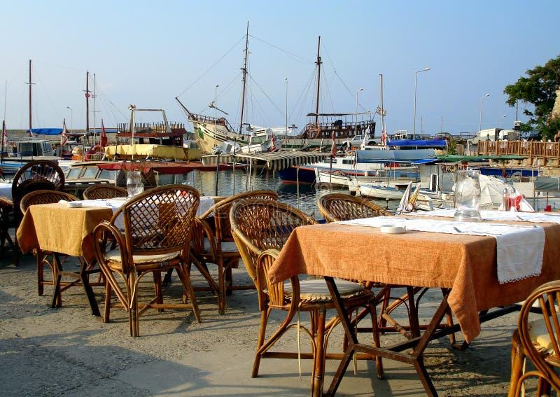 ресторан harbourside стоковые изображения