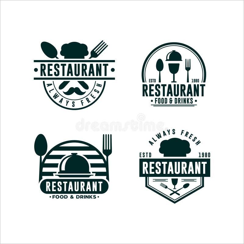 Ресторан Logo Food Drink Collections бесплатная иллюстрация