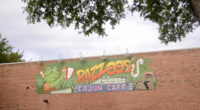 Ресторан Razzoos Cajun, Fort Worth, Техас стоковая фотография